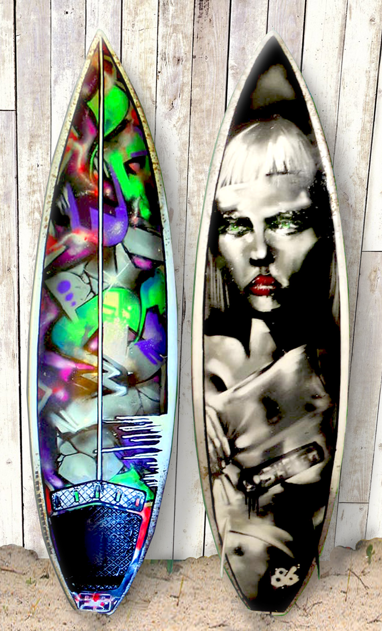 Surfs Up Customized Painted Surf Boards Urban Gypset