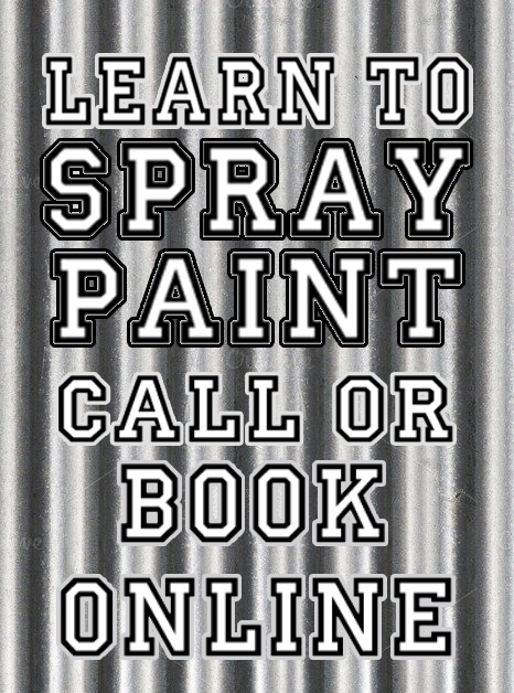 learn to spray paint graffiti lessons cornwall helston