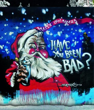 Fron of card santa graffiti card